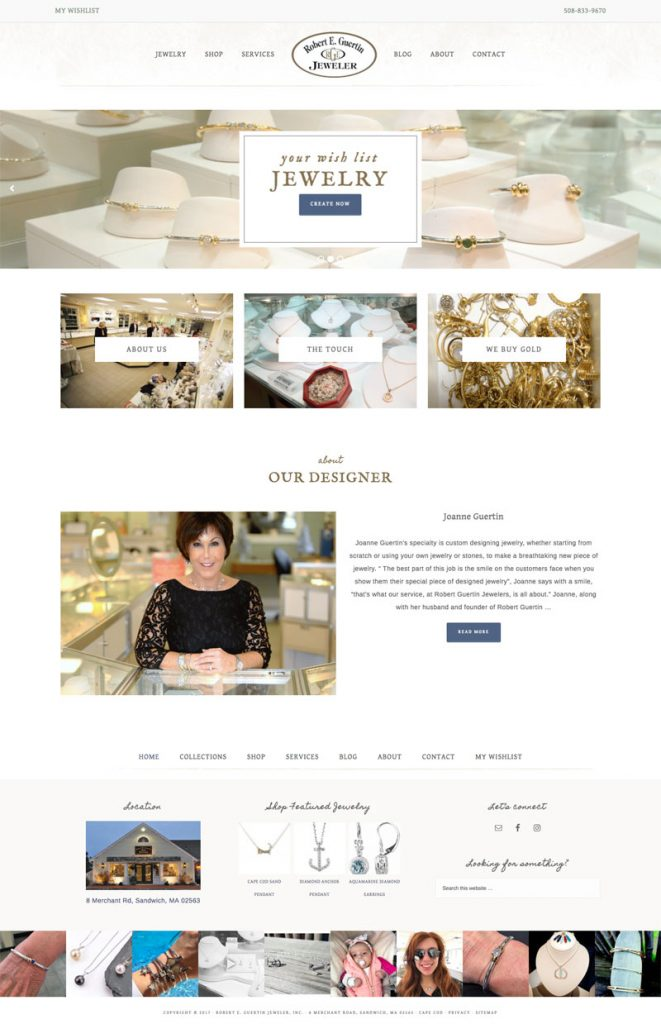 Robert Guertin Jeweler homepage